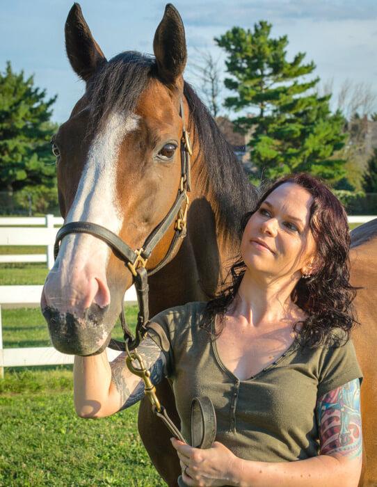 Heidi and her horse