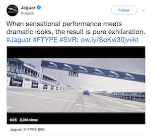 Jaguar Twitter example