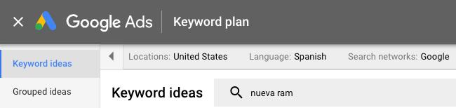 Spanish Keywords