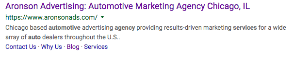 Aronson Advertising Example