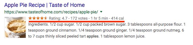 Apple Pie Recipe Schema Example