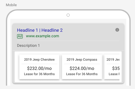 AdWords Price Extension
