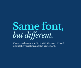 Social Media Graphics: Font Choices